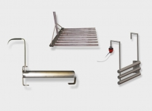 Heaters with cylindrical heating elements